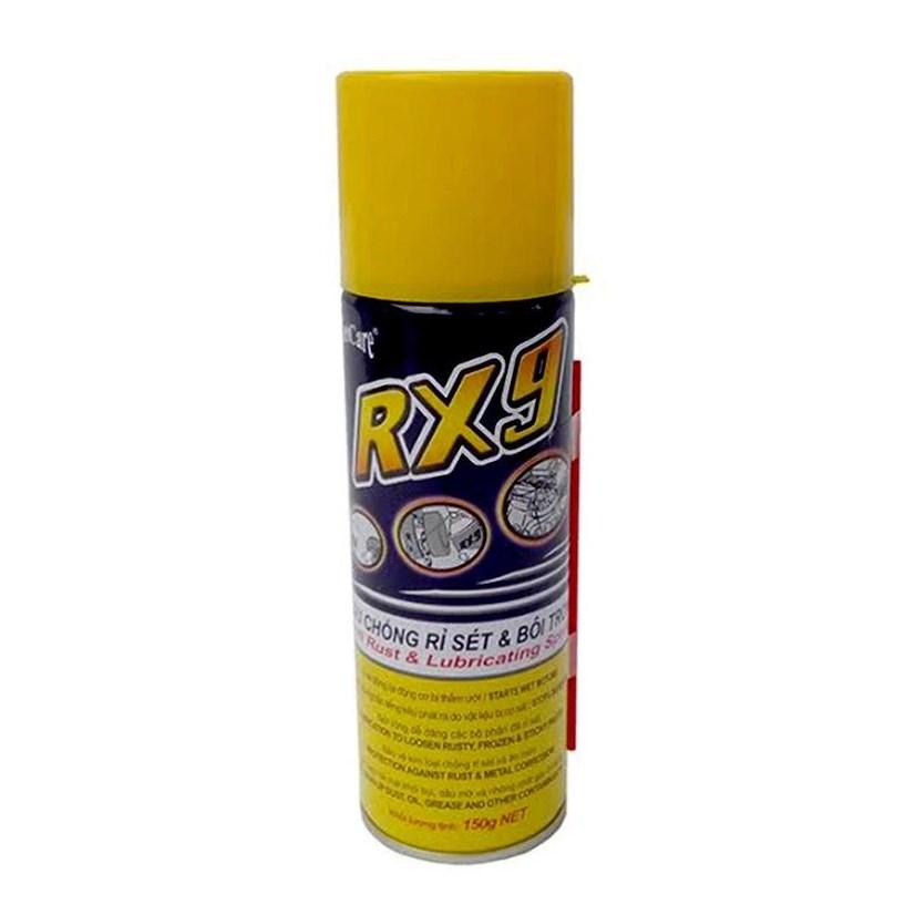 Chai xịt dầu chống rỉ sét và bôi trơn tiện dụng Vietcare RX9 150 gram