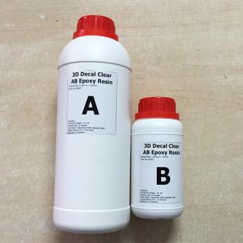 Keo đổ nhựa Epoxy Resin Ultra Clear loại khô dẻo chuyên đổ tem Decal DTAB3-A2 1kg