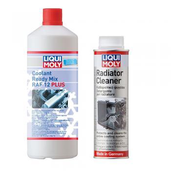 Combo vệ sinh két nước Liqui Moly 1804 300ml và nước làm mát đỏ 6924 pha sẵn 1 lít