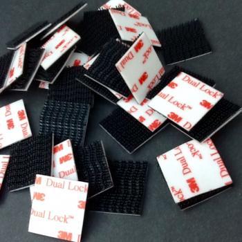 Bộ 10 miếng (5 cặp) băng keo khóa kép 3M dual lock tiện dụng siêu bám dính hình vuông 1in x 1in