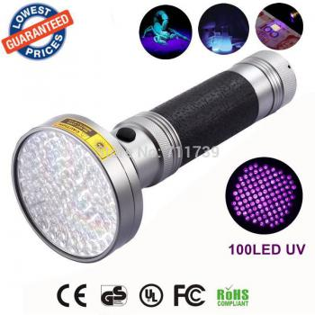 Đèn UV Led 100 bóng 18W sấy keo UV, soi tiền, tìm vật trú ẩn cầm tay tiện dụng