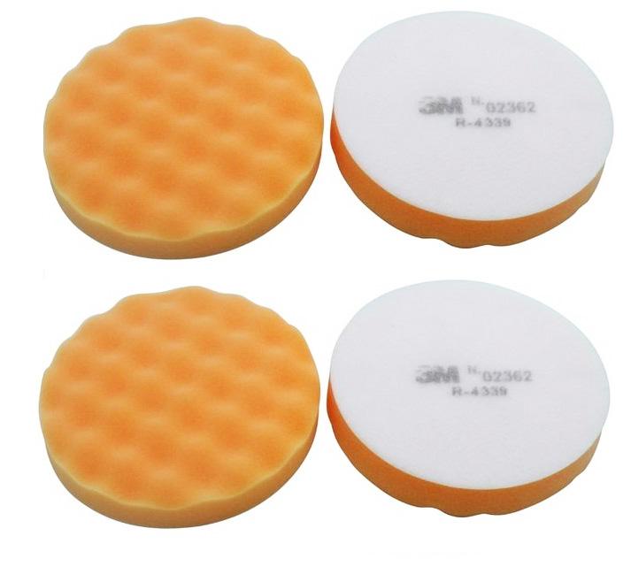Đĩa xốp đánh bóng bước 1 3M Buffing Pad - Orange Foam 02362 12.5cm (cam)