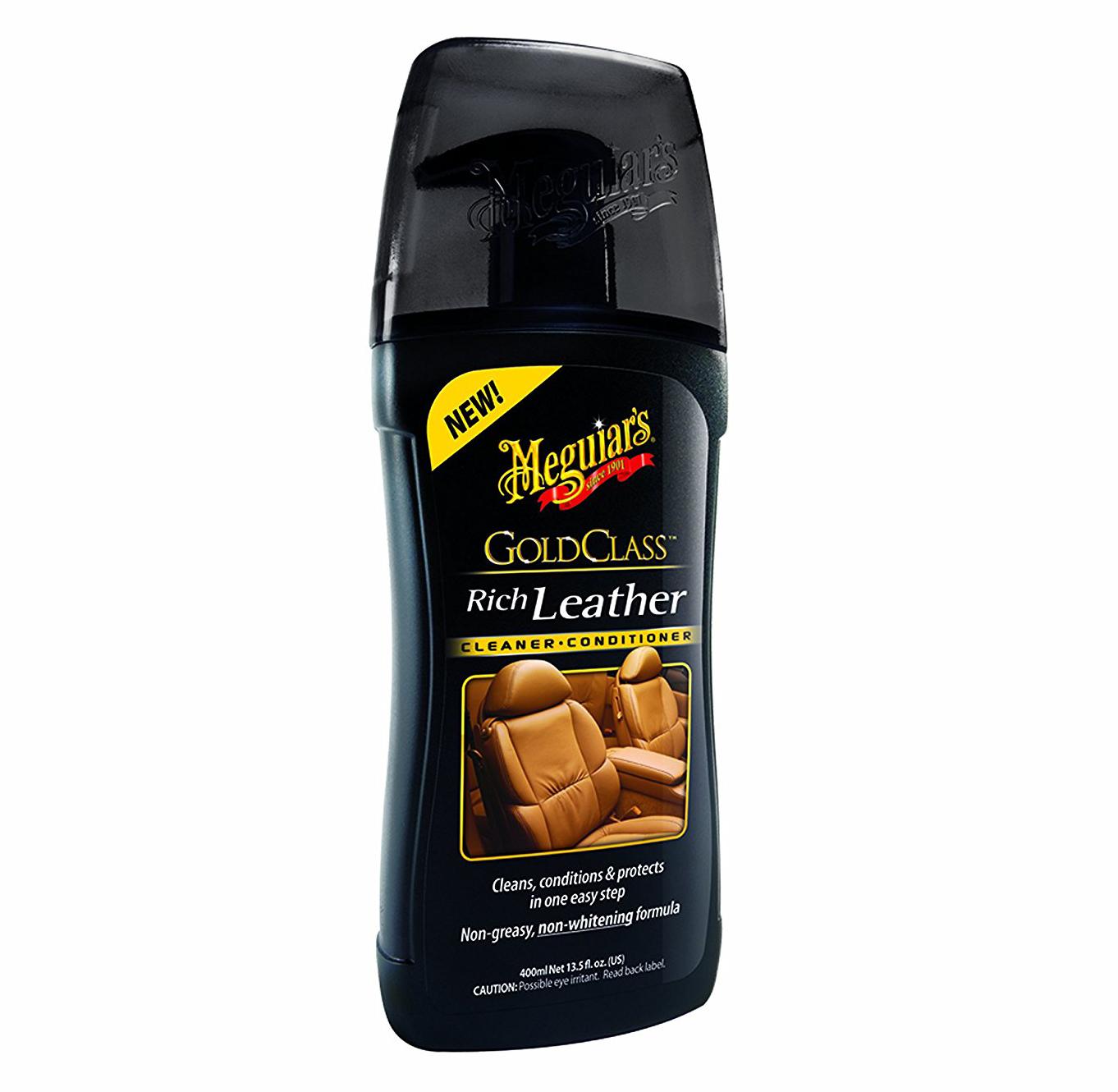Gel phục hồi và bảo dưỡng da nội thất xe Meguiar's G17914 Gold Class Rich Leather Cleaner & Conditioner - 400ml