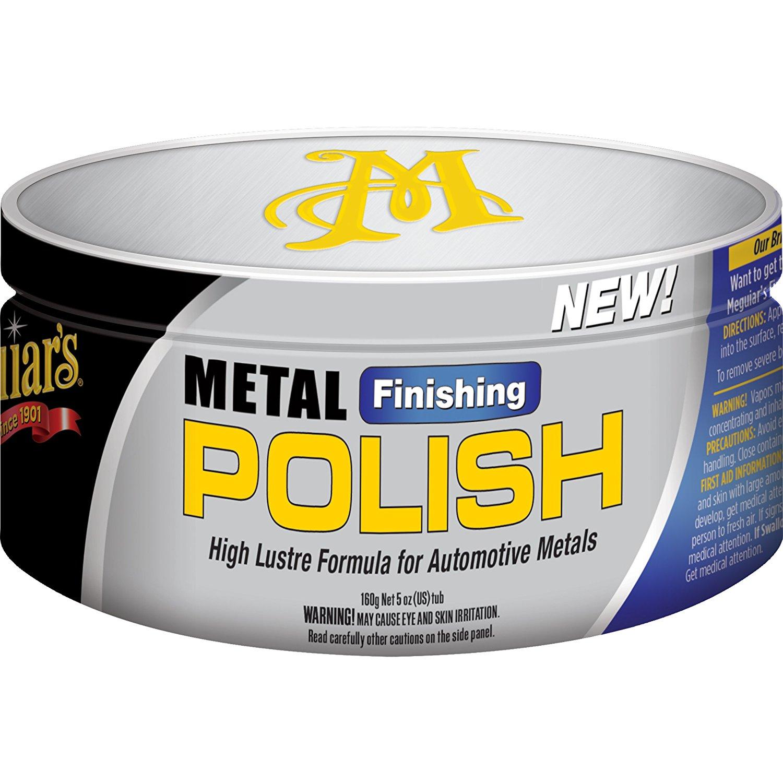 Kem đánh bóng kim loại logo, mâm, chrome Meguiar's G15605 Metal Finishing Polish 160g