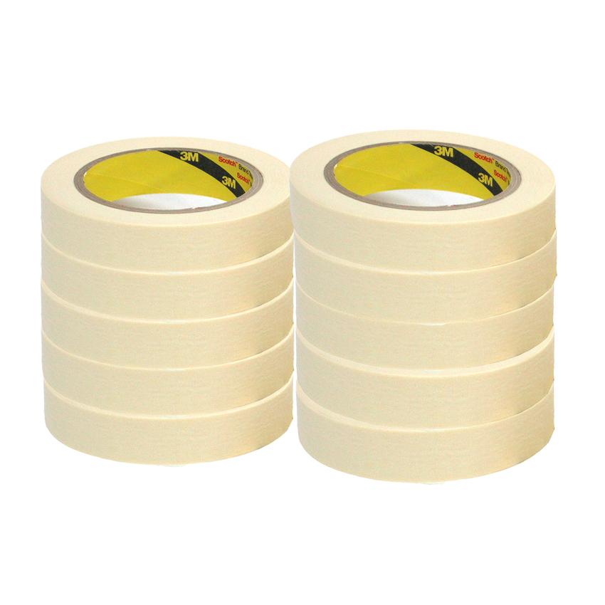 Băng keo giấy 3M Masking Tape 2600 24mmx27m (Trắng)