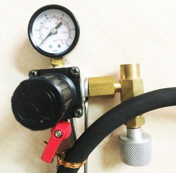 Bộ dụng cụ vệ sinh kim phun xăng điện tử FI dùng cho xe hơi - có đồng hồ đo áp suất và núm điều chỉnh chính hãng 3M