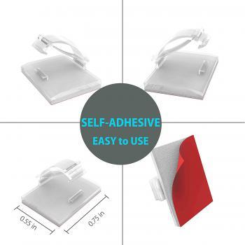 Clips - nẹp kẹp dây cáp điện tiện dụng có sẵn keo 3M màu trong suốt 13mmx18mm