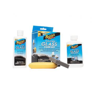 Bộ phục hồi làm trong và bảo vệ kính lái Meguiar's G8800 Perfect Clarity Glass Kit, 11 fl. oz, 1 Pack
