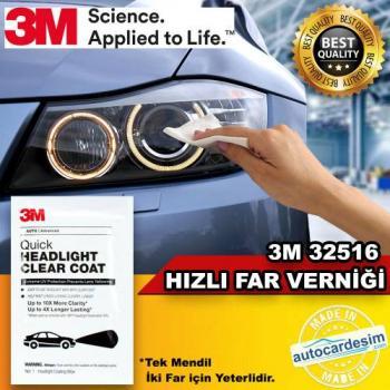 Phủ bóng phục hồi và bảo vệ đèn xe 3M Quick Headlight Clear Coat 32516