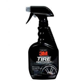 Chai xịt chăm sóc lốp phục hồi cao su - 3M Tire Restorer PN39042 473ml (Đen)