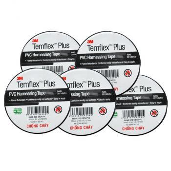 Băng keo điện 3M Temflex Plus PVC Harnessing Tape 18mm x 9m x 0.127mm