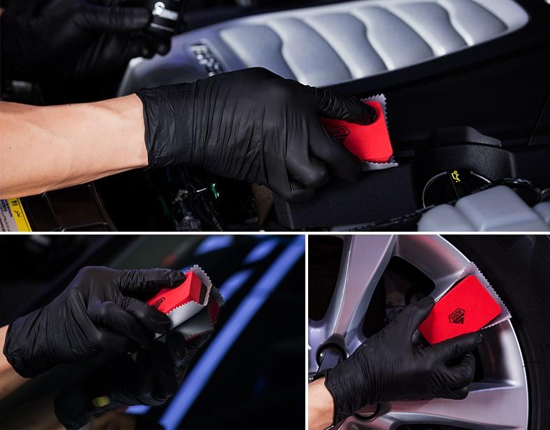 Bộ 2 bọt biển hỗ trợ phủ Coating 83*52*25mm SGGD003 và 4 khăn lau phủ nano SGCB Coating Towel 10x10cm SGO094